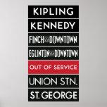 TTC Subway Destination Sign v2 Poster