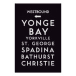 TTC - Westbound Stations Poster
