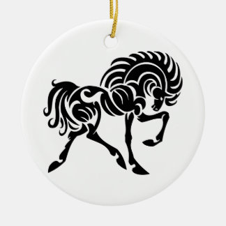 TTH TRIBAL TATTOO HORSE ICONS LOGOS GRAPHICS VECTO CERAMIC ORNAMENT