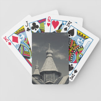 Ttraditional wooden Russian Orthodox church 3 Bicycle Playing Cards