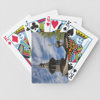 Ttraditional wooden Russian Orthodox church 4 Bicycle Playing Cards