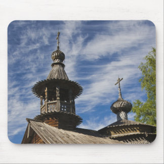 Ttraditional wooden Russian Orthodox church 4 Mouse Pad