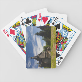 Ttraditional wooden Russian Orthodox church 5 Bicycle Playing Cards