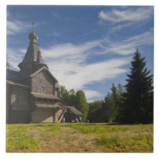 Ttraditional wooden Russian Orthodox church 5 Ceramic Tile