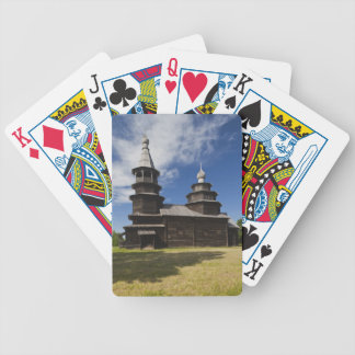 Ttraditional wooden Russian Orthodox church Bicycle Playing Cards