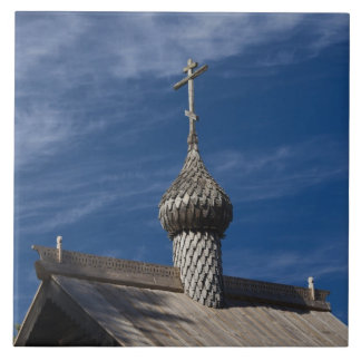 Ttraditional wooden Russian Orthodox church Ceramic Tile