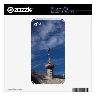 Ttraditional wooden Russian Orthodox church iPhone 4S Skins