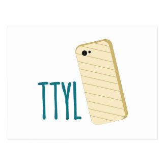 TTYL Phone Post Card