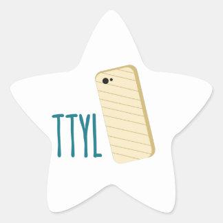 TTYL Phone Star Sticker
