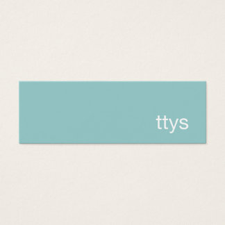 Ttys Networking Minimalistic  Business Card