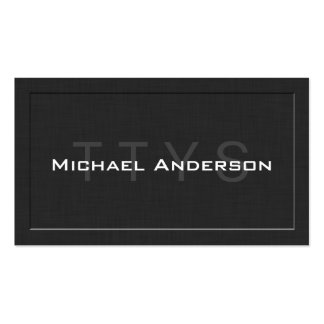 TTYS Simple Elegant Linen Networking Calling Card Business Card