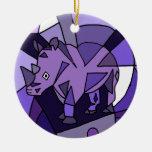 TU- Amazing Rhino Abstract Art Design Ornament