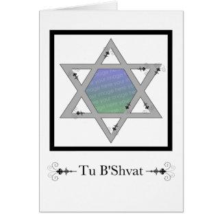 Tu B'Shvat! : star of david photo card