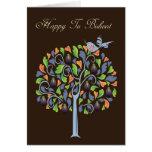 Tu Bishvat - Fig Tree And Bird - Card For Tu Bishv