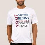 Tu crecimiento empieza fuera de tu zona de comfort remeras