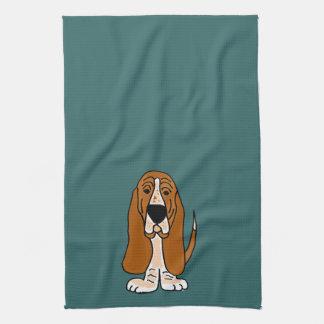 TU- Funny Basset Hound Original Art Towel