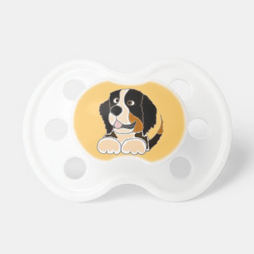 TU- Funny Bernese Mountain Dog Original Art Baby Pacifier