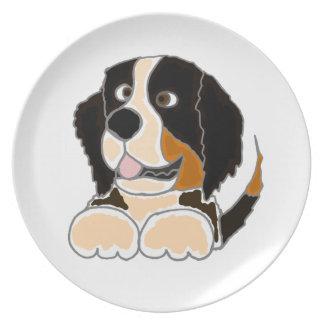TU- Funny Bernese Mountain Dog Original Art Plate