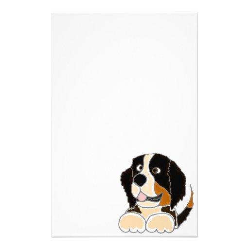 TU- Funny Bernese Mountain Dog Original Art Stationery