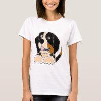 TU- Funny Bernese Mountain Dog Original Art T-Shirt