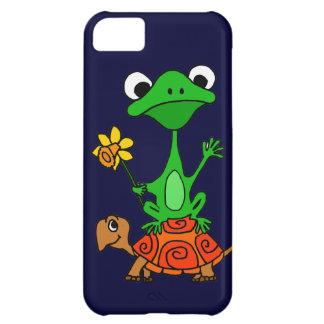 TU- Funny Frog Riding Turtle Cartoon iPhone 5C Cover