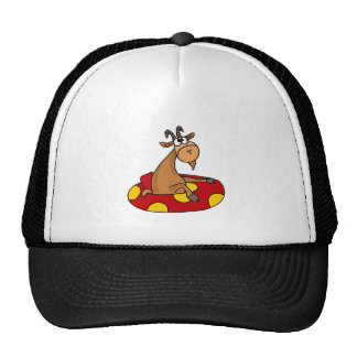 TU- Funny Whatever Floats Your Goat Cartoon Trucker Hat