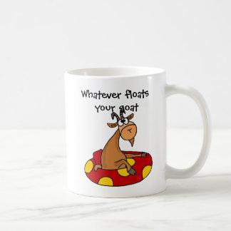 TU- Funny Whatever Floats Your Goat Cartoon Classic White Coffee Mug