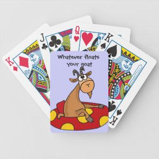TU- Funny Whatever Floats Your Goat Cartoon Card Decks