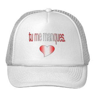 Tu me Manques! Canada Flag Colors Trucker Hats