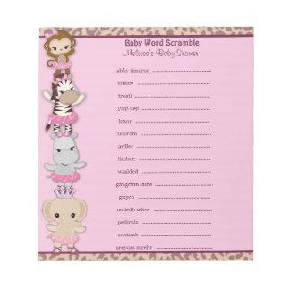 Tu Tu Cute Ballerina Word Scramble TTC 40-pages Note Pad