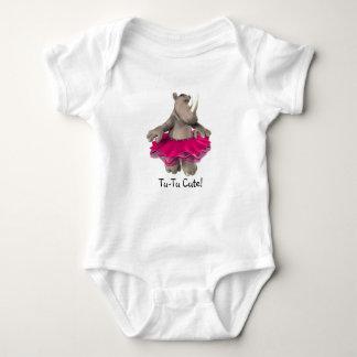 ¡Tu-Tu lindo! Blanco de la camiseta del bebé del Polera