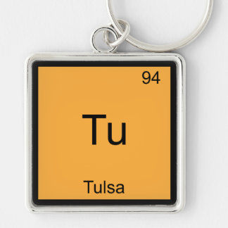Tu - Tulsa City Chemistry Element Symbol T-Shirt Key Chain