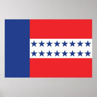 Tuamotu Archipelago, France flag Poster