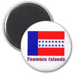 Tuamotu Islands Flag with name Refrigerator Magnet