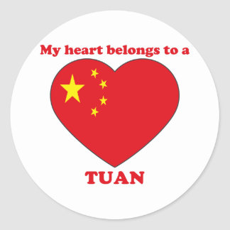 Tuan Classic Round Sticker