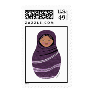 Tuareg Girl Matryoshka Stamps