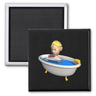 Tub Boats Refrigerator Magnet