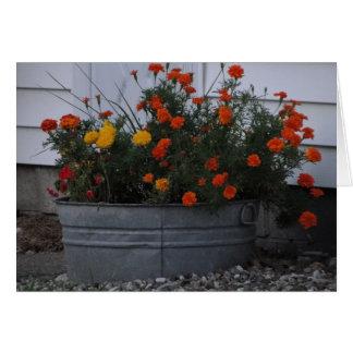 Tub Of Autumn Hues Card