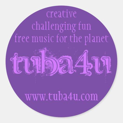 tuba4u #2 etiqueta redonda