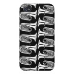 Tuba Abstract Pattern iPhone 4 Matte Case iPhone 4 Cases