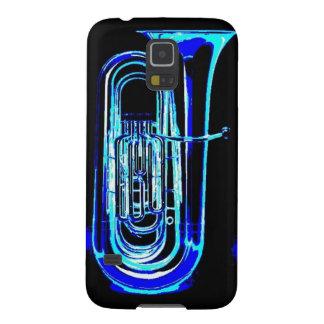 Tuba azul carcasas de galaxy s5