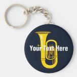 Tuba Basic Round Button Keychain