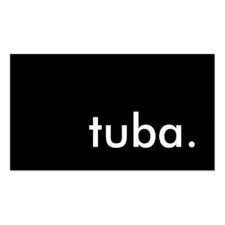tuba. business card