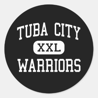 Tuba City - Warriors - High - Tuba City Arizona Classic Round Sticker