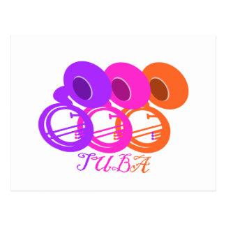 Tuba Color/ Tropical Postcard