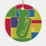 Tuba Colorblocks Ornament