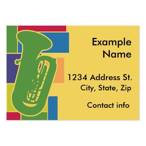 Tuba Colorblocks Profile Card Business Card