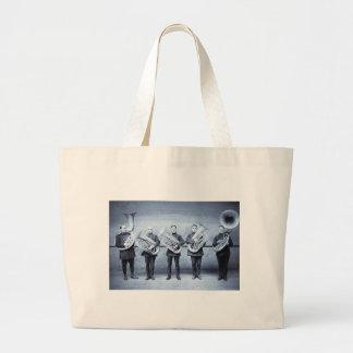 Tuba Cops Large Tote Bag