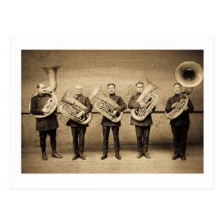 Tuba Cops (Sepia) Vintage Police Postcard