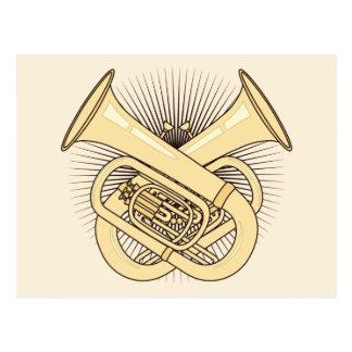 Tuba Crossbones Postcard